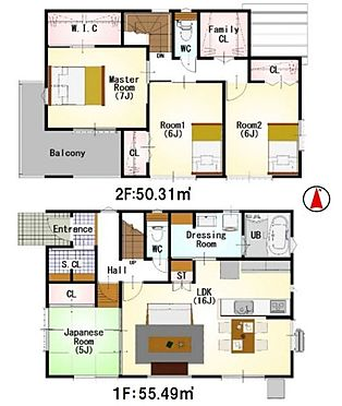 新築一戸建て-名古屋市中村区稲葉地町4丁目 間取りは生活のしやすさを重視。家族みんなが気持ちよく過ごすための構造と使いやすい間取りを実現。