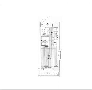 マンション(建物一部)-大阪市中央区松屋町住吉 間取り