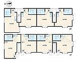 1階全室ロフト付き、2階全室小屋裏収納あり