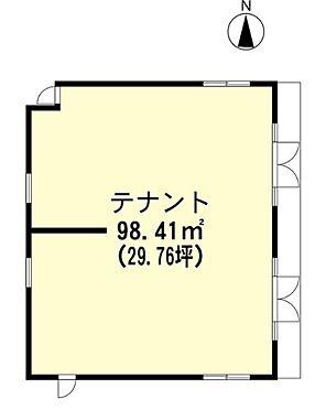 店舗(建物全部)-つくば市学園の森1丁目 土地面積98.4m2、延床面積221.98m2。
