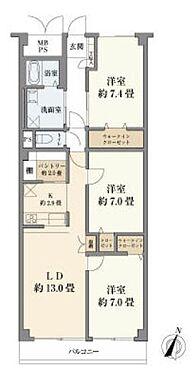 中古マンション-横浜市中区根岸旭台 間取り