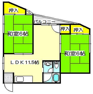 マンション(建物全部)-大阪市此花区梅香3丁目 間取り
