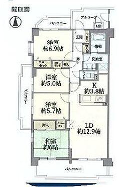 中古マンション-名古屋市緑区大清水2丁目 間取り