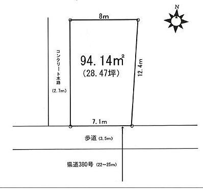 土地-越谷市蒲生寿町 区画図