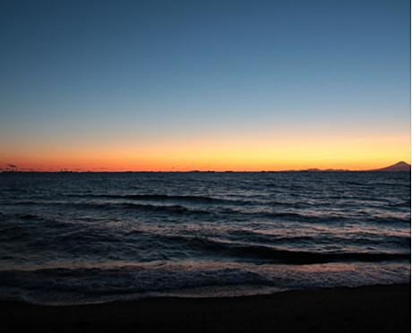 一棟マンション-千葉市美浜区稲毛海岸4丁目 いなげの浜の夕日