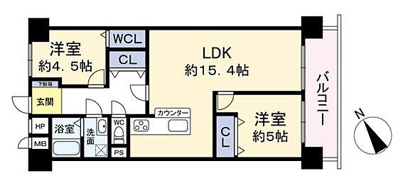 中古マンション-大阪市西区江之子島1丁目 間取り
