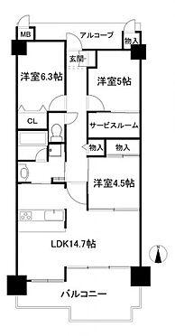マンション(建物一部)-神戸市須磨区多井畑南町 間取り