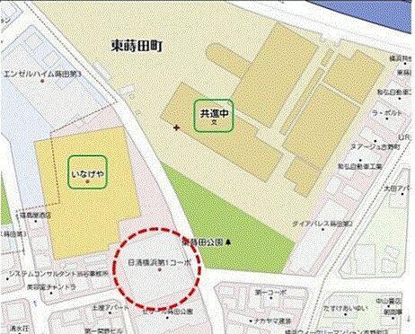 店舗事務所(建物一部)-横浜市南区東蒔田町 地図
