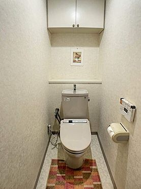 区分マンション-豊田市下市場町8丁目 棚のあるトイレは掃除用品やトイレ備品を隠しておけるのでありがたいですね。