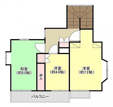 中古一戸建て-福岡市城南区茶山1丁目 2階間取り