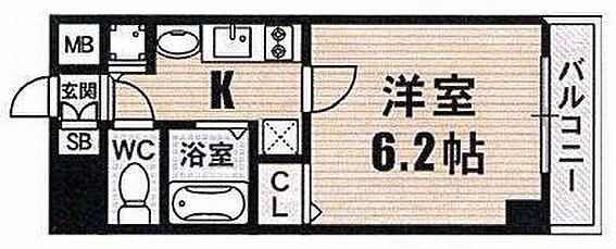 マンション(建物一部)-大阪市浪速区幸町2丁目 単身者向けの使い勝手の良い間取り