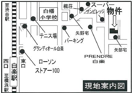 アパート-横浜市神奈川区白幡仲町 地図