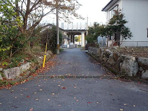 土地-八幡市橋本栗ケ谷 前面道路含む現地:2019年