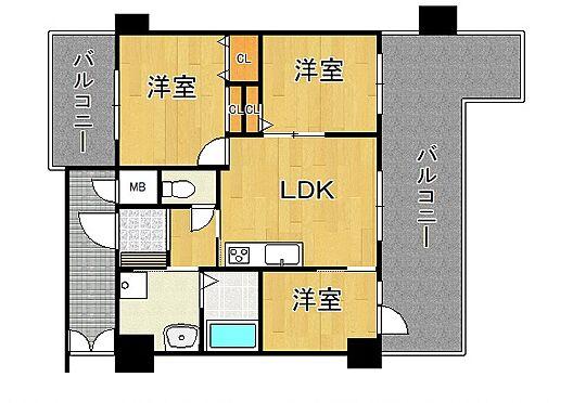 マンション(建物一部)-神戸市西区押部谷町木幡 室内には洗濯機置場があり、3点セパレートで清潔感あり。