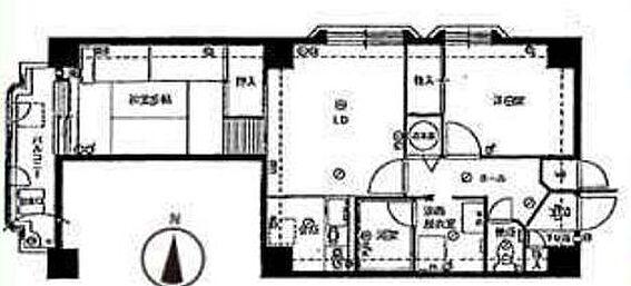 区分マンション-大阪市西区本田1丁目 間取り
