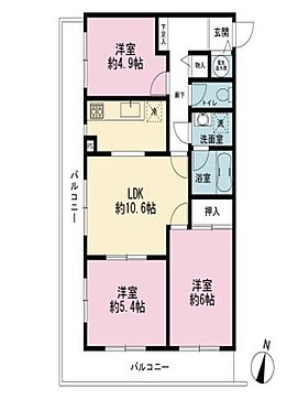 マンション(建物一部)-横浜市栄区上郷町 間取り