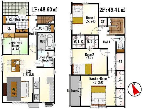 新築一戸建て-名古屋市北区辻町8丁目 便利なシューズインクローゼット付。家事がしやすいよう動線を考慮した間取りです!
