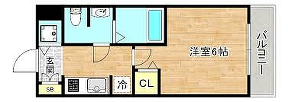マンション(建物一部)-大阪市旭区清水5丁目 間取り