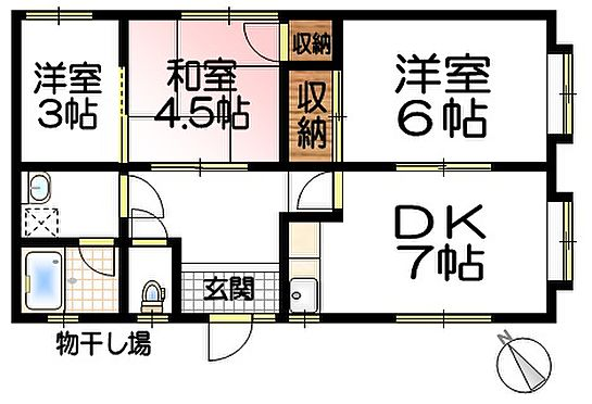 アパート-笠岡市生江浜 A棟1階