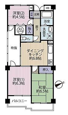 中古マンション-多摩市聖ヶ丘1丁目 使いやすい3DKの間取り。オール電化住宅です。