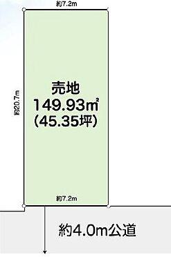 土地-川越市神明町 区画図