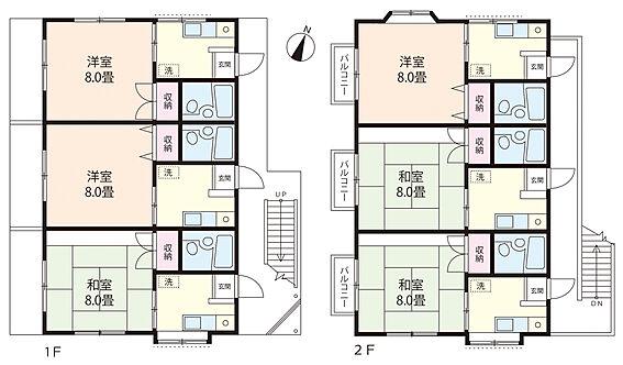 アパート-蕨市塚越4丁目 間取は設計図書を元に作成しております、現況と相違がある場合には現況優先と致します。
