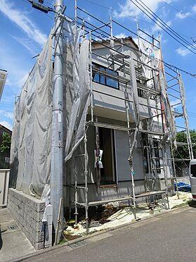 新築一戸建て-町田市小山町 1号棟西側からの建築中外観