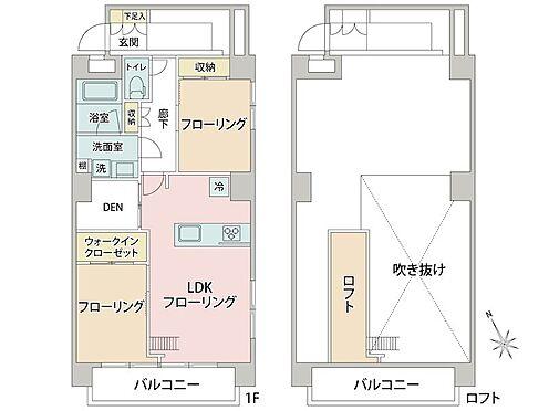 中古マンション-大田区西蒲田7丁目 DENやロフトがある機能的な間取りになっています