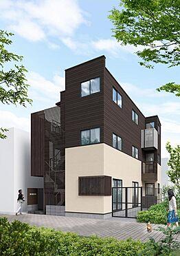 マンション(建物全部)-足立区千住仲町 完成予想外観CG