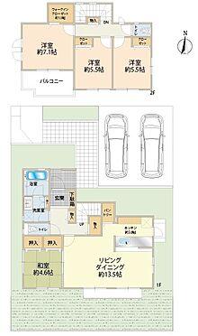 戸建賃貸-八王子市鑓水2丁目 間取図