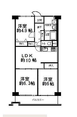 マンション(建物一部)-大阪市平野区瓜破東2丁目 ファミリーにおススメの3LDK
