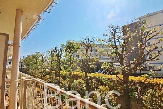 中古マンション-中野区南台5丁目 南向きの明るいバルコニーからの眺望です。