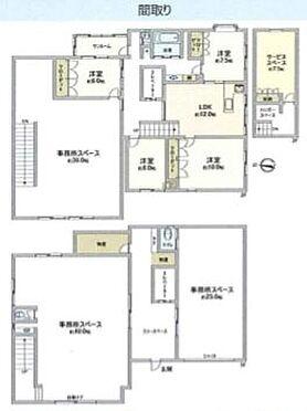 店舗付住宅(建物全部)-八千代市勝田台1丁目 間取り
