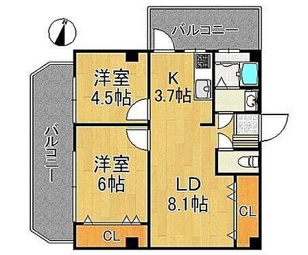 マンション(建物一部)-大阪市都島区高倉町1丁目 南西と北西の二面バルコニー