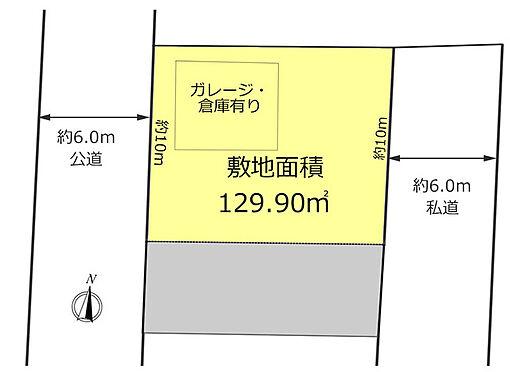 土地-東大和市上北台3丁目 区画図