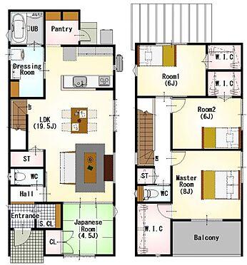 戸建賃貸-半田市新池町2丁目 間取りは生活のしやすさを重視。家族みんなが気持ちよく過ごすための構造と使いやすい間取りを実現。