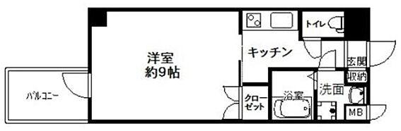 区分マンション-大阪市浪速区戎本町1丁目 室内に洗濯機が置けます