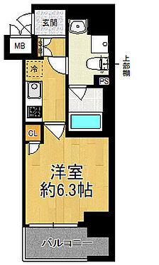 区分マンション-大阪市西区南堀江4丁目 間取り