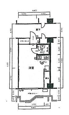 区分マンション-大阪市阿倍野区天王寺町北1丁目 間取り