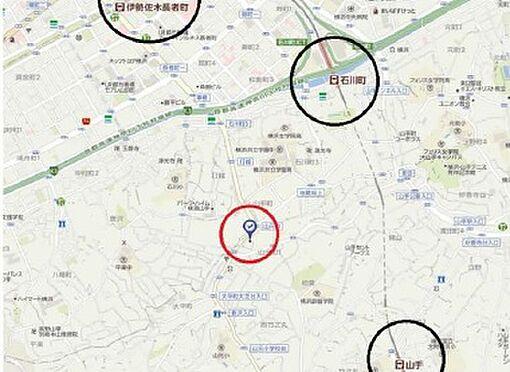 アパート-横浜市中区山元町1丁目 地図