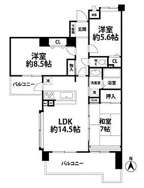 中古マンション-福岡市中央区谷2丁目 間取図※現況を優先します