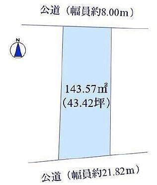 土地-平塚市平塚4丁目 区画図