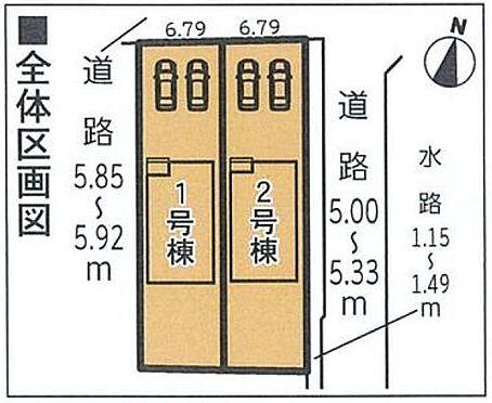 戸建賃貸-東海市加木屋町木之下 全体の区画図です