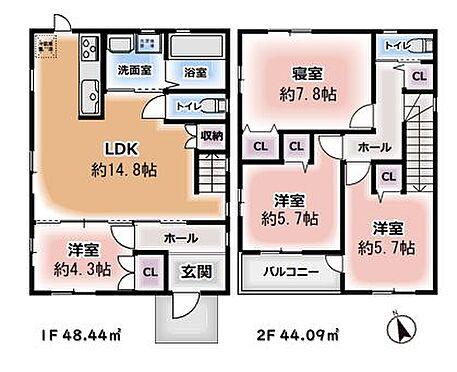 中古一戸建て-春日井市庄名町 ゆとりある4LDK!リビングイン階段、陽の当たるLDKは家族団欒のひと時を演出してくれます!