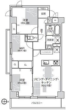 区分マンション-小金井市緑町5丁目 間取り