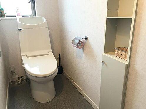 中古一戸建て-半田市平地町2丁目 1Fトイレ うれしい収納棚つき