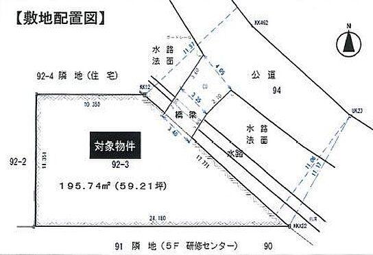 土地-豊田市鴛鴨町下高根 こちらは区画図です。