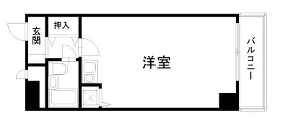 マンション(建物一部)-大阪市浪速区恵美須西2丁目 水まわりをコンパクトにまとめたプラン