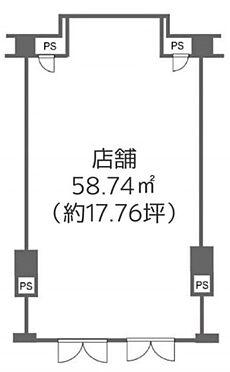 店舗(建物一部)-千代田区平河町2丁目 間取り