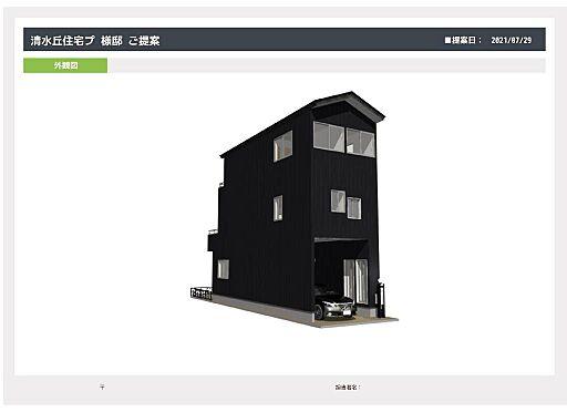 土地-大阪市住吉区清水丘2丁目 住宅参考プラン図